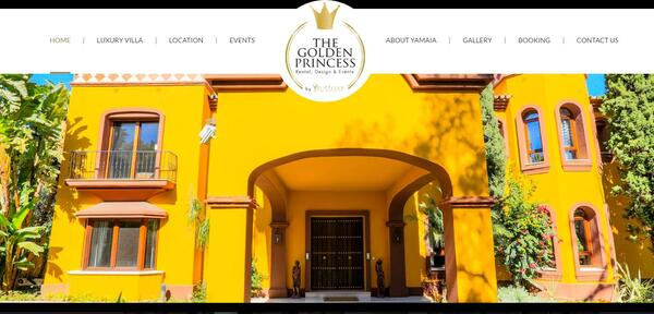 The Golden Princess Villa | Website by Redline The Golden Princess Villa | Website por Redline