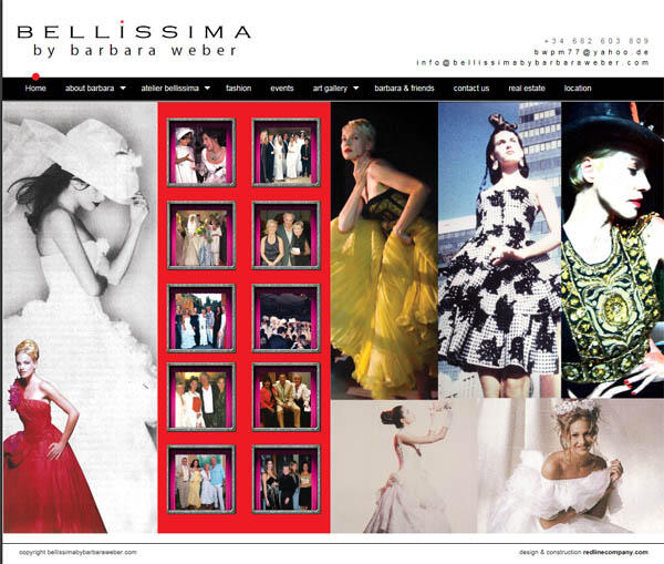 Bellissima by Barbara Weber| Art gallery and fashion | Web Design and Programming Portfolio by Redline Company