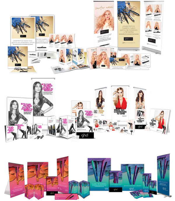 GHD | International manufacturer of hair care | Marketing Portfolio by Redline Company