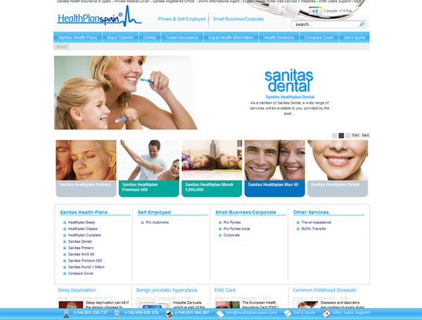 Healthplan  Spain  | Health Insurance company   | Web Design and Programming Portfolio by Redline Company