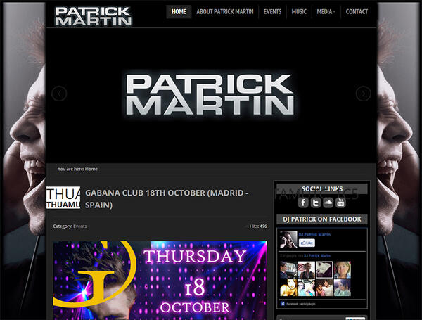 DJ Patrick Martin | DJ | Web Design and Programming Portfolio by Redline Company