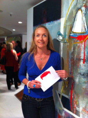 Redline attends the opening of the Red Penguin Art Gallery