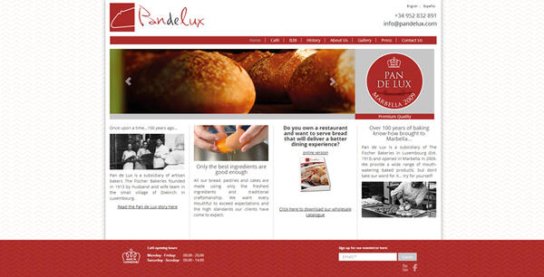 Pan de Lux| Bakery | Web Design and Programming Portfolio by Redline Company