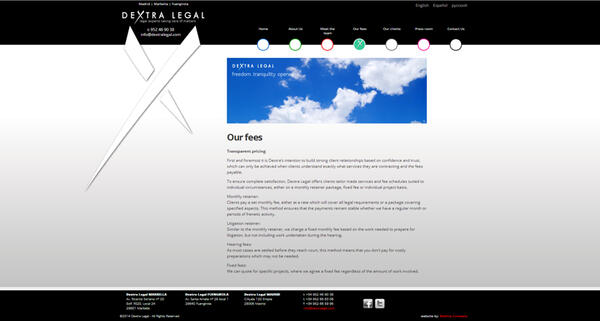 Dextral Legal |  Law Firm  | Web Design and Programming Portfolio by Redline Company