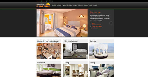 Mad About Furniture |  Furniture company | Web Design and Programming Portfolio by Redline Company