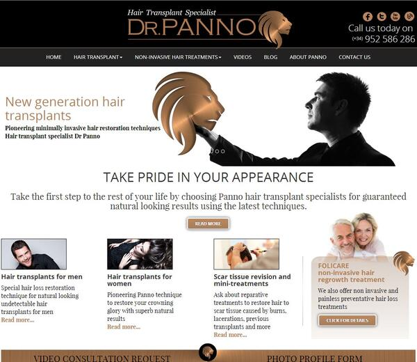 Dr Panno  | Hair transplant clinic | Web Design and Programming Portfolio by Redline Company