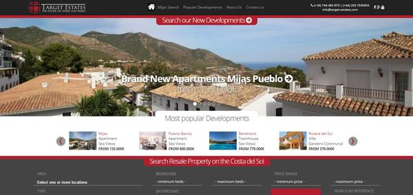 Target Estates | Website by Redline Target Estates | Website por Redline